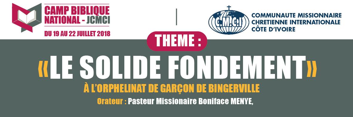 ORATEUR: Pasteur Boniface MENYE