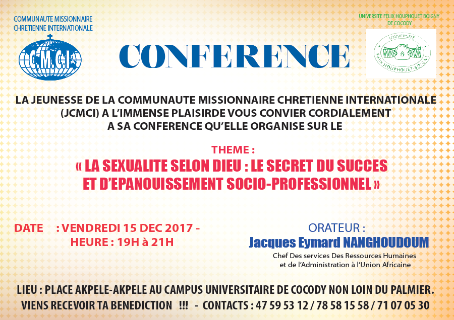 CONFERENCE EVANGELIQUE AU CAMPUS DE COCODY