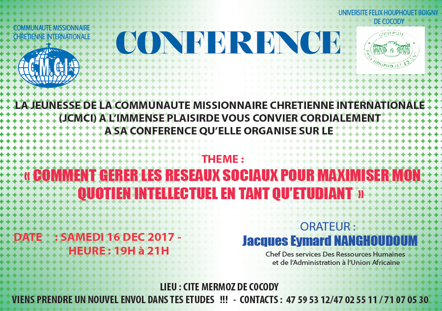 CONFERENCE EVANGELIQUE A LA CITE MERMOZ